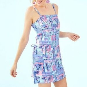 Lilly Pulitzer Sahar Romper Whisper Blue Yeah Buoy